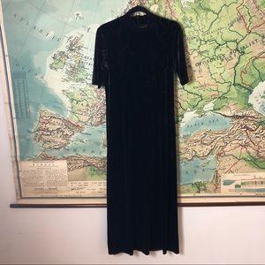 Vintage Carole Little Velvet Maxi Dress